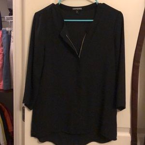 Black zippered blouse